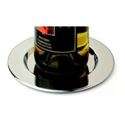 Franmara - Set of 4 Stainless Steel Smooth Pratique Wine Bottle Coasters - This gorgeous Set of 4 Stainless Steel Smooth Pratique Wine Bottle Coasters has the finest details and highest quality you will find anywhere! Set of 4 Stainless Steel Smooth Pratique Wine Bottle Coasters is truly remarkable.