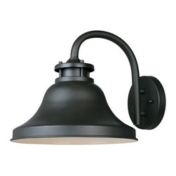 "Designers Fountain - Designers Fountain Bayport-DS Outdoor Wall Mount Light Fixture in Bronze - Shown in picture: 11"" Dark Sky Wall Lantern in Bronze finish; DarkSky Fixture"