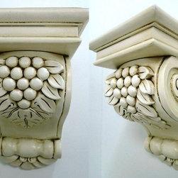 O'Neil Cabinets' Corbels - O'Neil Classic big corbel with grape design.