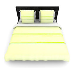 """Kess InHouse - CarolLynn Tice """"Lemons"""" Lime Yellow Cotton Duvet Cover (Twin, 68"""" x 88"""") - Rest in comfort among this artistically inclined cotton blend duvet cover. This duvet cover is as light as a feather! You will be sure to be the envy of all of your guests with this aesthetically pleasing duvet. We highly recommend washing this as many times as you like as this material will not fade or lose comfort. Cotton blended, this duvet cover is not only beautiful and artistic but can be used year round with a duvet insert! Add our cotton shams to make your bed complete and looking stylish and artistic!"""