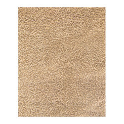Anji Silky Shag Beige 8' x 10' - Take a few steps on our luxurious bamboo rug, and your feet will sing with joy. Not only are the fibers of this 80% bamboo - 20% cotton rug softer and silkier than wool or synthetic fibers, they are also hypo-allergenic and resist shedding. In addition, only non-toxic Azo-free dyes are used to produce the brilliant colors. Our bamboo rugs are crafted from sustainably-harvested bamboo that grows on a mountain range that is not inhabited by the Giant Panda bear. In addition, the Giant Panda does not eat the species of bamboo used to craft these beautiful rugs, so you can rest assured that these rugs are not only earth-friendly, but also panda-friendly. Rug pad recommended. Available colors: Ivory, Beige, Crimson and Coffee Bean. Available sizes: 3'x5', 4'x6', 5'x8', 8'x10' and 9'x12'.