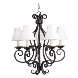 Maxim Lighting - Manor 5 Light Chandelier With Shades - Lighting your life since 1970, Maxim Lighting is committed to offering you outstanding quality and satisfaction.