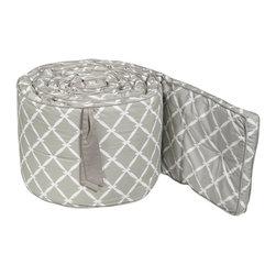 Dahlia Nursery Bumper - This geometric crib bumper would add a modern feeling to crib bedding.