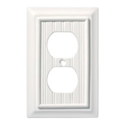 Liberty Hardware - Liberty Hardware 126356 Beadboard WP Collection 3.15 Inch Switch Plate - White - A simple change can make a huge impact on the look and feel of any room. Change out your old wall plates and give any room a brand new feel. Experience the look of a quality Liberty Hardware wall plate.. Width - 3.15 Inch, Height - 4.9 Inch, Projection - 0.4 Inch, Finish - White, Weight - 0.13 Lbs