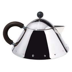 Alessi - Alessi Michael Graves Teapot - This teapot is made of stainless steel mirror polish with handle and knob in PA. **PLEASE NOTE THAT THIS IS A TEAPOT AND NOT A KETTLE**