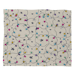 DENY Designs - DENY Designs Sam Osborne Fairy Lights Fleece Throw Blanket - This DENY fleece throw blanket may be the softest blanket ever! And we're not being overly dramatic here. In addition to being incredibly snuggly with it's plush fleece material, you can also add a photo or select a piece of artwork from the DENY Art Gallery, making it completely custom and one-of-a-kind! And when you've used it so much that it's time for a wash, no big deal, as it's machine washable with no image fading. Plus, it comes in three different sizes: 80x60 (big enough for two), 60x50 (the fan favorite) and the 40x30. With all of these great features, we've found the perfect fleece blanket and an original gift!