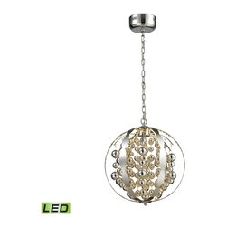 ELK Lighting - ELK Lighting 11727/LED Light Spheres Polished Chrome Pendant - ELK Lighting 11727/LED Light Spheres Polished Chrome Pendant
