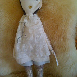 Coco-Inspired Rag Doll - These Jess Brown dolls are truly special. Though they cost a small fortune, I'd love to have one delicately perched upon a shelf to admire always. The detail in the clothing and the craftsmanship are remarkable.