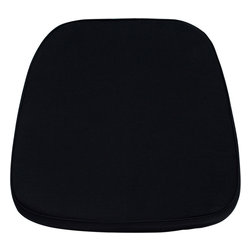 Flash Furniture - Flash Furniture Soft Black Fabric Chiavari Chair Cushion - LE-L-C-BLACK-GG - Add comfort to your wood or resin Chiavari chair with this detachable cushion. The velcro straps allows for easy attachment to the chair frame and quick removal when no longer needed. The fabric cover can be removed for cleaning purposes when needed. [LE-L-C-BLACK-GG]