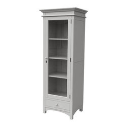 Tradewinds - Coastal Mission Tall Boy Cupboard, Grey - Bring this classically designed mission tall boy to your refined bedroom or living spaces to make them more alluring. Well-made, this coastal living furniture styled piece has four sections and also accommodates B-100 baskets to meet your various storage needs.