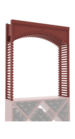"Wine Racks America - Large Wine Cellar Arch in Pine, Cherry + Satin Finish - A special Decorative Cellar Arch creates a beautiful centerpiece with any 35"" surface area. This large Arch is sure to impress even the pickiest of visitors. Our beautiful arches integrate seamlessly into our modular wine rack kits. Satisfaction is guaranteed."