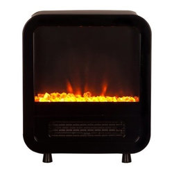 Fire Sense Skyline Black Electric Stove - Our compact Skyline Electric Stove provides a modern stove look to any room. This stylish unit utilizes an efficient LED lighting system to produce a realistic flame along with a clear fire glass look. A fully functional two heat setting 1500 watt heater provides excellent warmth in small rooms. The Skylines compact design makes it fit in nearly any room
