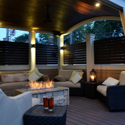 Chicago Roof Deck - These are projects we've completed in Chicago that feature fire pits as a focal point.