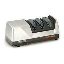 Chef'sChoice - Chef'sChoice Diamond Hone EdgeSelect Plus Knife Sharpener - M120 - Brushed Metal - Chef'sChoice® Diamond Hone® EdgeSelect® #120: