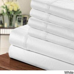 1000 Thread Count Egyptian Cotton-blend 6-piece Sheet Set -