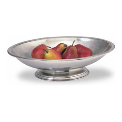 "Match - Match Centerpiece Footed Bowl - This stunning handmade pewter piece from Match would make a great statement on a buffet or dining table. This piece measures 17.3""l x 12.9""w x 4.5""h. Match Pewter should be washed in warm soapy water and hand dried."