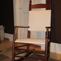Shaker Rocking Chair - Enfield,NH Paddedback Rocker - S. Timberlake South Union Shaker paddedback rocking chair. Wonderfully comfortable, beautifully proportioned.