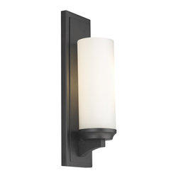 Murray Feiss - Murray Feiss Amalia Transitional Wall Sconce X-BRO3271BW - Inspired by a vintage shelf candle holder, the Amalia Collection creates the transitional column candle look with a sleek, smooth profile which hides all hardware. The cylindrical, glass shade sits atop the tapered shelf detail.