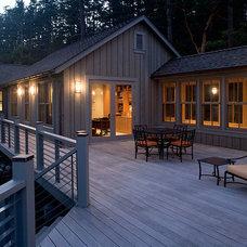 Contemporary Deck by Studio 29 - Architecture, Orcas Island, WA