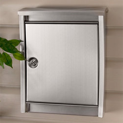 Urban Locking Wall-Mount Mailbox - Stainless Steel - The Urban Locking Wall-Mount Stainless Steel Mailbox features an ultra contemporary design and secure locking feature. The galvanized steel lid opens to reveal the mail slot.