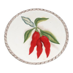 "ATD - 6.38 Inch ""Red Chili's on the Vine Garden"" Themed Dinner Plate - This gorgeous 6.38 Inch ""Red Chili's on the Vine Garden"" Themed Dinner Plate has the finest details and highest quality you will find anywhere! 6.38 Inch ""Red Chili's on the Vine Garden"" Themed Dinner Plate is truly remarkable."
