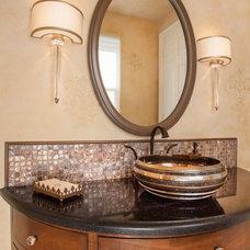 Eclectic Powder Room by Deborah Gordon Designs