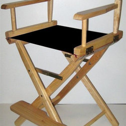 Yu Shan - Director's Style Folding Chair w Natural Fini - Color: YellowCanvas can be washed by cold water only . For indoor use only. 24 in. Seat Height. Frame Color: Natural. Canvas Color: Black. 39.75 in. H x 20.5 in. W x 16 in. D