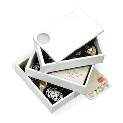 Open Sesame Box - The Open Sesame Box is the perfect way to store small treasures. The various boxes pivot open, then close magnetically. Once closed, it also provides a stylish note on your table or shelf.