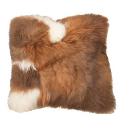"World Peaces - Alpaca Pillow - This alpaca fur pillow cover is so soft and cozy, you'll want to cuddle all winter! This 16"" square pillow looks best accompanied by many of its furry friends. Comes with pillow form-folded closure on back plain side."