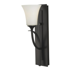 Murray Feiss - Murray Feiss Barrington Bathroom Lighting Fixture in Oil Rubbed Bronze - Shown in picture: Barrington Vanity Strip in Oil Rubbed Bronze finish with Opal Etched Glass