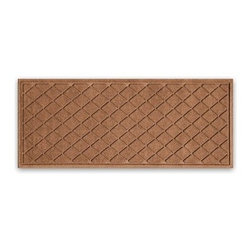 "Balsam Hill - Balsam Hill® StormGuard Doormat - Dk Brown Diamond Faceted - 22"" x 60"" - The Balsam Hill Diamond Faceted pattern StormGuard� floor mat keeps your entryways spotless and clean, even in the harshest of weather. Made out of premium synthetic fiber, this tough but elegant floor mat traps moisture, dirt, and dust while resisting everyday wear and tear, mold, and mildew. Our heavy-duty floor mat is able to retain its attractive appearance for many years and it also boasts an absorbency rate of over one gallon per square yard. Fits standard doorways, comes in the color dark brown. Free shipping when you buy today!"