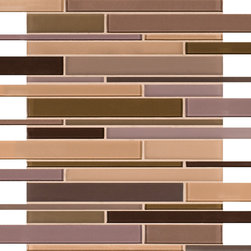 Artistic Tile Opera Glass Collection - Diva Stilato Linear Mosaic - Versatile, contemporary and timeless: Opera Glass offers ultimate design flexibility. Clear float glass, with color applied to the back, in large and small formats, full spectrum of colors, satin and gloss finishes, and wide selection of shapes allow for endless pairing possibilities. Its versatility is unrivaled. Modern and classic, mysterious and inviting, Opera Glass is fresh and elegant.