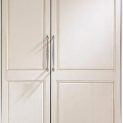 GE Monogram 48 inches Built-In Side-by-Side Refrigerator with Custom Panels. - This Built-in Side by Side Refrigerator has Spillproof Glass Shelves, Automatic Icemaker, Multi-S, Filter-Change Indicator Lighthelf Air Tower, and Digital Temperature .
