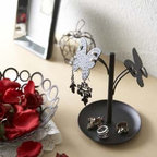 d'Oreille - Black Metal Butterfly Jewelry Tray and Earring Holder, Modern Jewelr - An attractive way to store your earrings, necklaces and other small essentials.