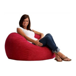 "Comfort Research - ""Comfort Research 3' Fuf in Comfort Suede, Sierra Red"" - ""This is the chair that brought bean bags out of the 1970s and into the bedrooms and dorm rooms all over the world. The first one to use patented memory foam, the Fuf is one-of-a-kind. Spend five minutes on a Fuf and your body will thank you for it.Dimensions (W x L x H): 36"""" x 36"""" x 32""""Weight: 20 lbs.Filled with super soft and long lasting fuf foam re-fuf again and again for custom comfortCovered in soft, durable fabricGreat for basements, bedrooms, dorm rooms, or even the family roomPlace it on its side for more of a lounge position or upright for more back supportAvailable in assorted sizes and colors"""