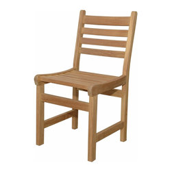 Anderson Outdoor Furniture - Windham Dining Chair - Why should your dining room have all the fun? Dress up your patio or deck with this beautiful solid teak dining chair, and next thing you know, you'll be eating every meal al fresco.
