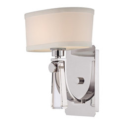 Quoizel - Quoizel UPBY8701IS Uptown Bowery Wall Sconce - The Bowery collection is a highend boutique design with sophisticated details of crystal jewelry perfect for today�۪s home decor.  Available in two fabulous finishes, Imperial Silver with a white linen shade and Western Bronze with a cream linen shade.