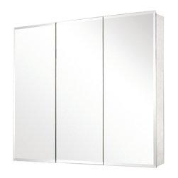 """Pegasus - Pegasus 31 x 36 Medicine Cabinet with Tri-View Beveled Mirror (SP4589) - Pegasus SP4589 31"""" x 36"""" Medicine Cabinet with Tri-View Beveled Mirror"""
