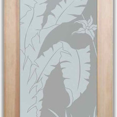 tropical bathroom by Sans Soucie Art Glass