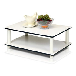 Furinno - Furinno 11172 Just 2-Tier Coffee Table - Furinno Just Series No Tools No hassles shelves and tables features the serenity of the Japanese living room life style. The white finished of the product delivers the clean and cozy feel and blend in with any room decor. These multifunctional tables and shelves suitable for any room that need storage shelves, display, TV entertainment or even kids room. The designs are simple and basic which fit into a modern stylish lifestyle. This series are made of 12mm E1 Grade Particleboard made from recycled materials of rubber trees, eco-friendly. All the materials are manufactured in Malaysia and comply with the green rules of production. There is no foul smell, durable and the material is the most stable amongst the particleboards. A simple attitude towards lifestyle is reflected directly on the design of Furinno Furniture, creating a trend of simply nature. All the products are produced and assembled 100-percent in Malaysia with 95% - 100% recycled materials.