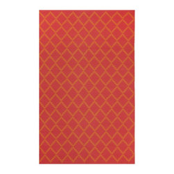 Fab Habitat - Marrakech Orange & Rouge Red (8' x 10') - Bring the energetic colors of an outdoor Moroccan bazaar into your home, without having to make a trip to the African continent. This cheerful rug bursts with orange and red accents, calling to mind the vivid shades found in a breathtaking desert sunset.