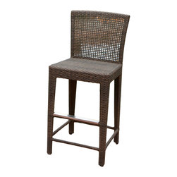 Great Deal Furniture - Arizona Outdoor Wicker Bar Stool - The item does not come with stainless steel cover for the footrest! Our Arizona Outdoor Wicker Bar Stool gives you a wonderful bar stool in a contemporary style. Great for enjoying your outdoors, you'll find the Arizona's neutral brown color work in any outdoor environment.