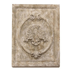 Kathy Kuo Home - Maçonnerie Antique White French Country Carved Wood Panel Wall Sculpture - This rustic raised panel, with its antique whitewash finish, is reminiscent of the ornate stonework found on the building exteriors throughout Paris. Hang this in your kitchen or living room for a pop of textural interest, or pair with two others to create a row of historic artistry.