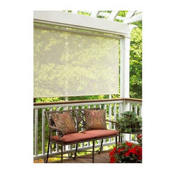 Lewis Hyman - Energy Efficient Sun Shade in Sand Finish w P - Choose Size: 96 in. W x 72 in. LAdd a light, airy touch to your outdoor living space with this stylish sun shade, a perfect addition to your porch or patio. The shade is designed to reduce your home's cooling costs by blocking the sun's rays while still allowing light to shine through. It is made of polyester in sand finish. Made from Polyester. Coated with PVC. Energy efficient. Easy to Install. Minimal assembly requiredGreat for Windows, Porches, Gazebos, Sunrooms, and other indoor/outdoor structures. Reduces cooling costs, blocks sun while still letting