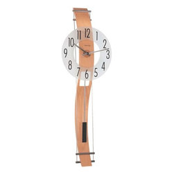 HERMLE - Hermle Kennington Contemporary Wall Clock - Beech - This unique wall clock features:
