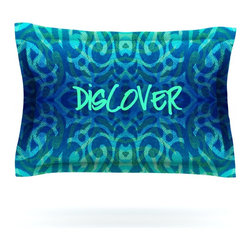 "Kess InHouse - Caleb Troy ""Tattooed Discovery"" Pillow Sham (Cotton, 30"" x 20"") - Pairing your already chic duvet cover with playful pillow shams is the perfect way to tie your bedroom together. There are endless possibilities to feed your artistic palette with these imaginative pillow shams. It will looks so elegant you won't want ruin the masterpiece you have created when you go to bed. Not only are these pillow shams nice to look at they are also made from a high quality cotton blend. They are so soft that they will elevate your sleep up to level that is beyond Cloud 9. We always print our goods with the highest quality printing process in order to maintain the integrity of the art that you are adeptly displaying. This means that you won't have to worry about your art fading or your sham loosing it's freshness."