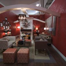 Contemporary Home Theater by Jennifer Brouwer (Jennifer Brouwer Design Inc)