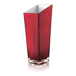 Italian handmade - PROMENADE VASE H 34 CM, made of glass,