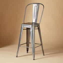 Tolix 1934 Bar Stool | Sundance Catalog - Handcrafted in France in a 100-step process, these stools look much the same way they did in the 1930s but with a new curving back to make them even more comfortable. You can use it for the bar, the kitchen counter, the outdoor patio — you name it.