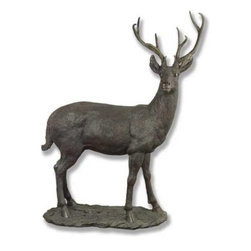 Orlandi Statuary - White Tail Deer Garden Statue - FSO677WHITETAILDEER - Shop for Statues and Sculptures from Hayneedle.com! Your garden's natural setting will be perfectly complemented with this highly realistic White Tail Deer Garden Statue. Intricately carved fur beautifully sculpted antlers and an alert watchfulness give this deer the illusion of life. This realistic statue is hand-poured into a cast to capture every detail of the original design. Time-hardened the piece is then finished with a hand-applied after-coating to enhance its weather-resistant abilities.About Orlandi StatuaryBorn in 1911 when Egisto Orlandi traveled from Lucca Italy to Chicago Illinois Orlandi Statuary quickly set the standard for excellence in their industry. Egisto took great pride in his craft and reputation and which is why artists interior designers and museums relied upon the careful details and impeccable quality he demanded. Over the years they've evolved into a company supplying more than statuary. Orlandi's many collections today include fiber stone for the garden religious statuary fountains columns and pedestals. Their factory and showroom are still proudly located in Chicago where after 100 years they remain an industry icon.